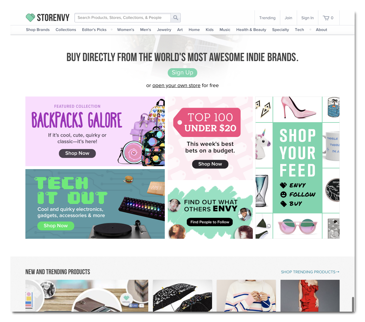 multichannel selling on Storenvy