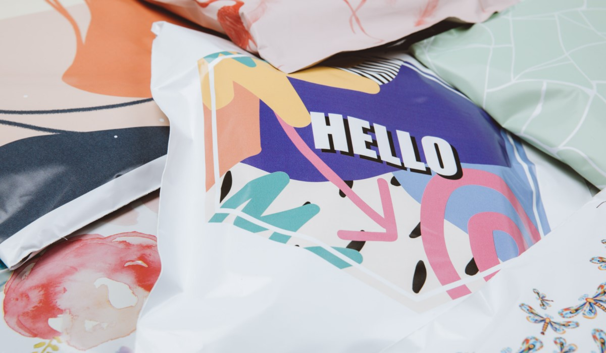 printful custom mailer examples with different designs