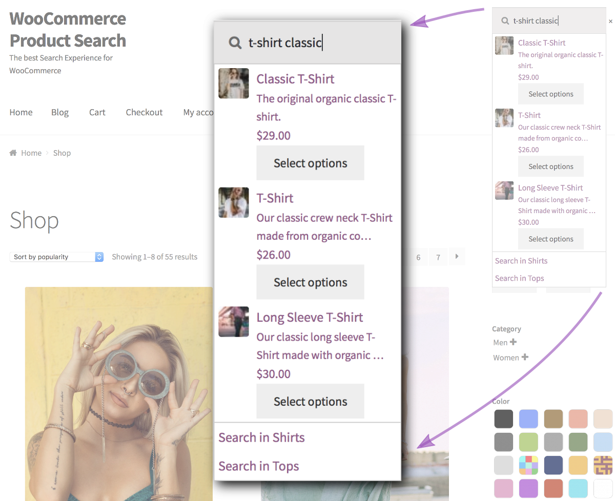 WooCommerce Product Search plugin