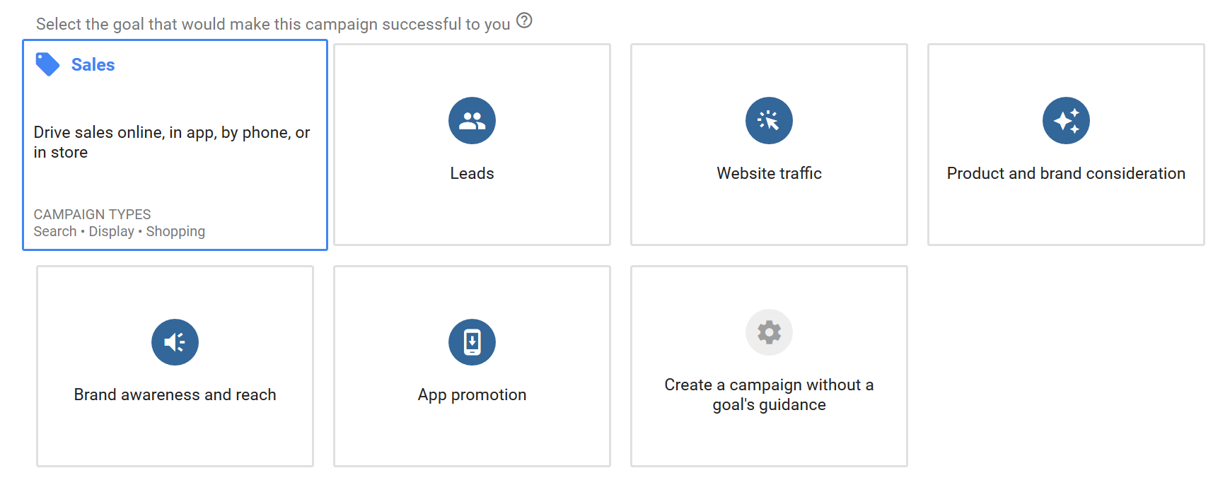 Create Google Shopping Ad Campaign Step 1