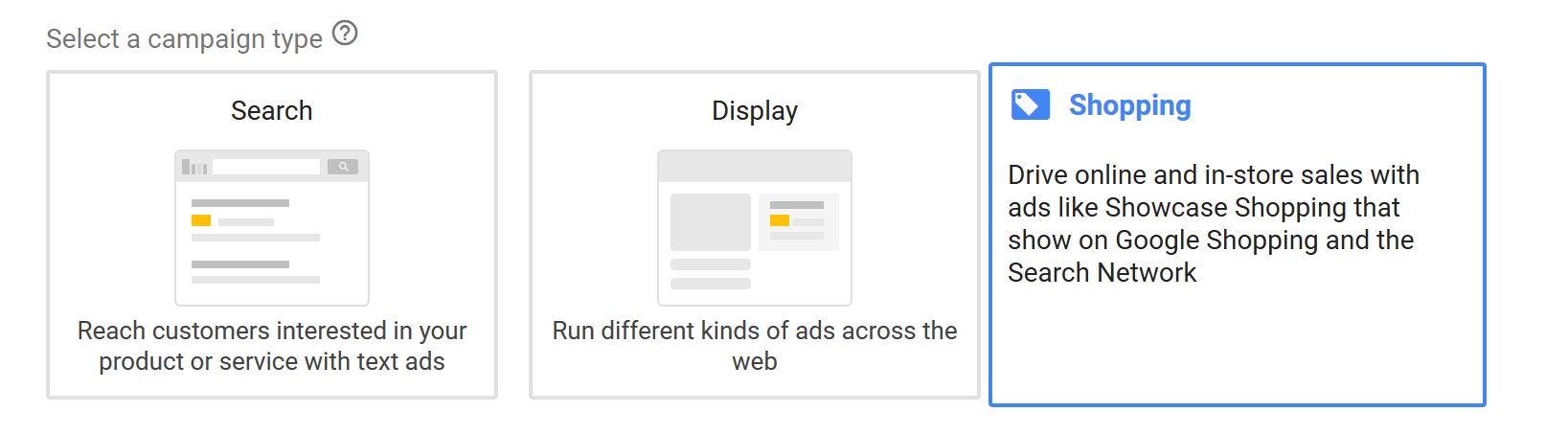 Create Google Shopping Ad Campaign Step 2