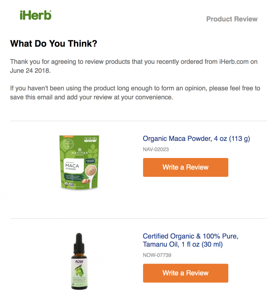 iherb-product-review-request-example