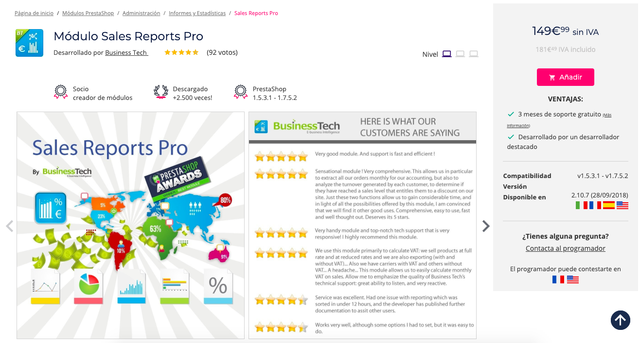 prestashop-modulo-sales-report