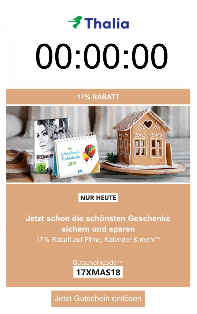 Countdown-Email-Kampagne-Festtage