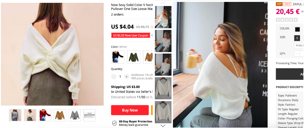 Aliexpress vs Zaful competitor oriented pricing example - how to raise your product price
