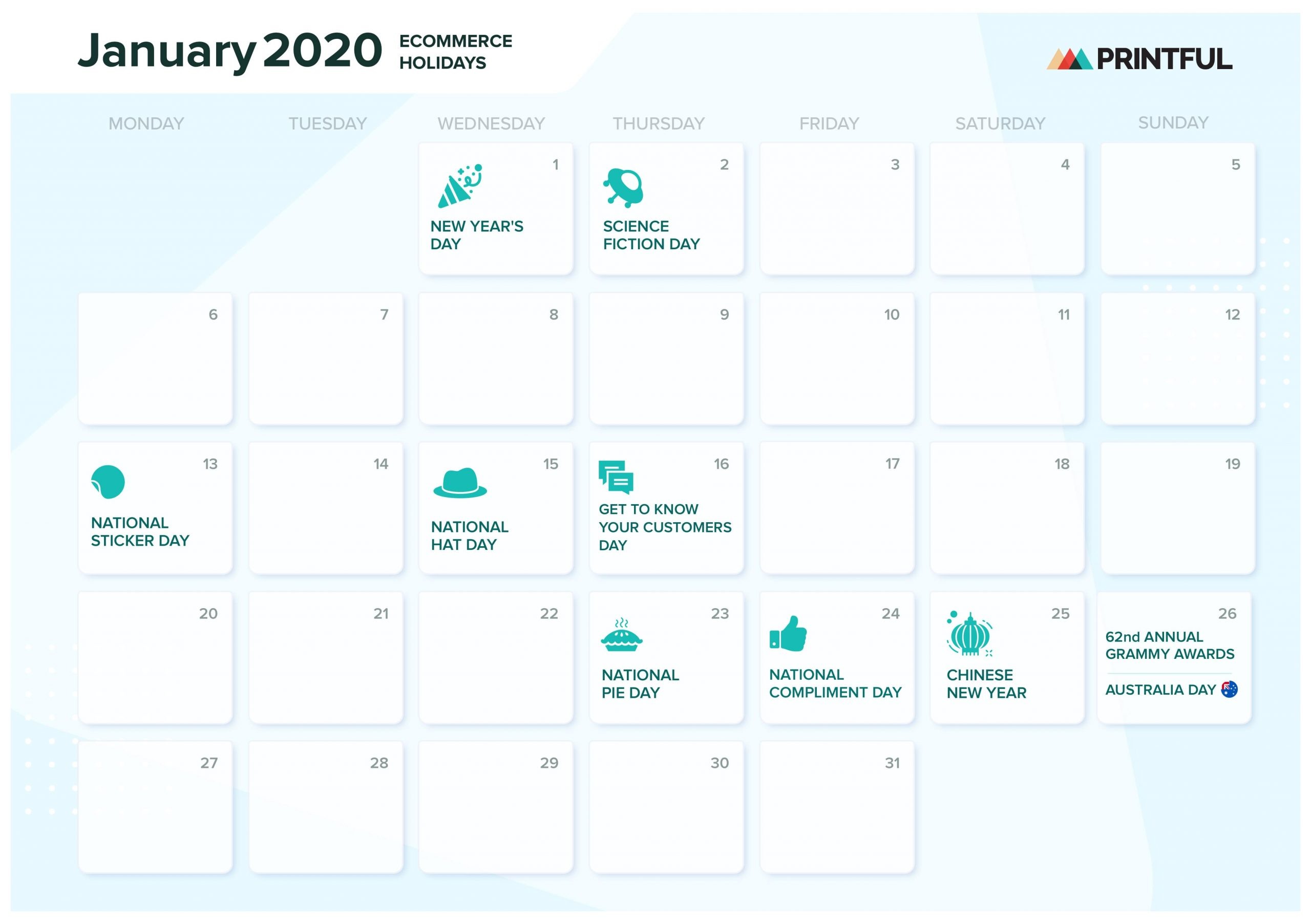 The Ultimate 2020 Ecommerce Holiday Marketing Calendar Blog Printful