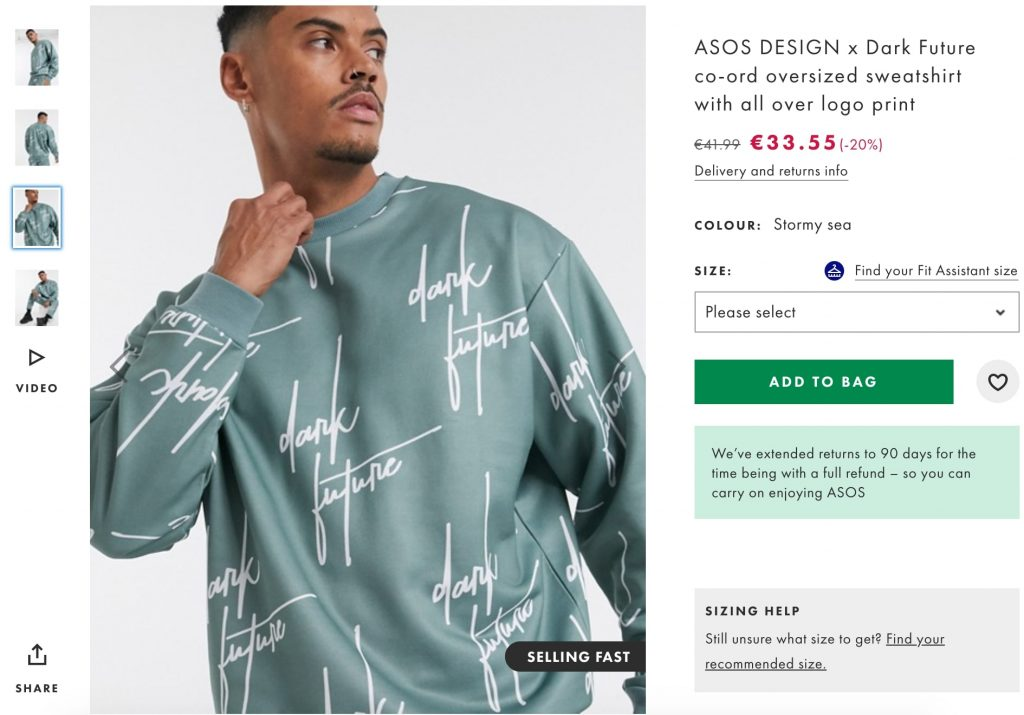Asos-product-description-example