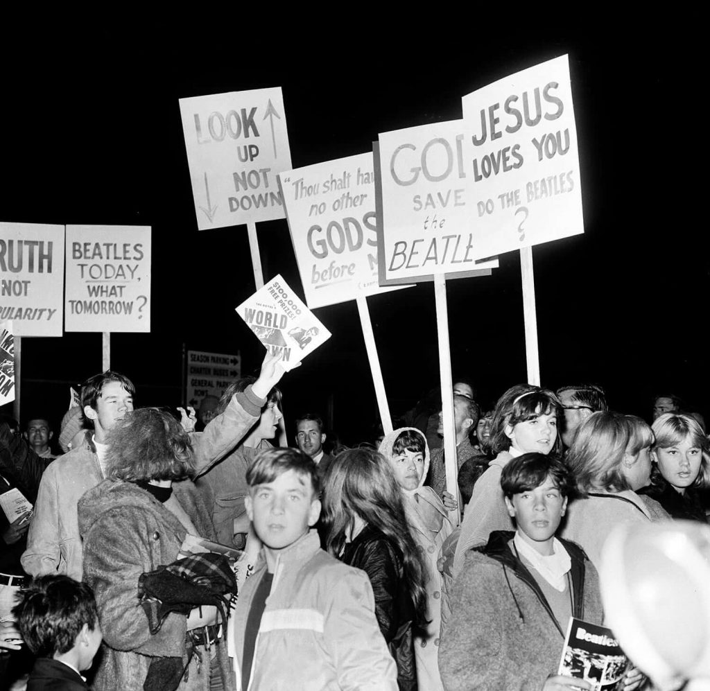 The Beatles Jesus political riot posters
