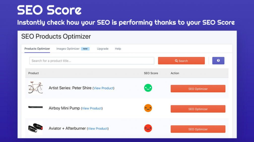 SEO products omptimizer shopify app