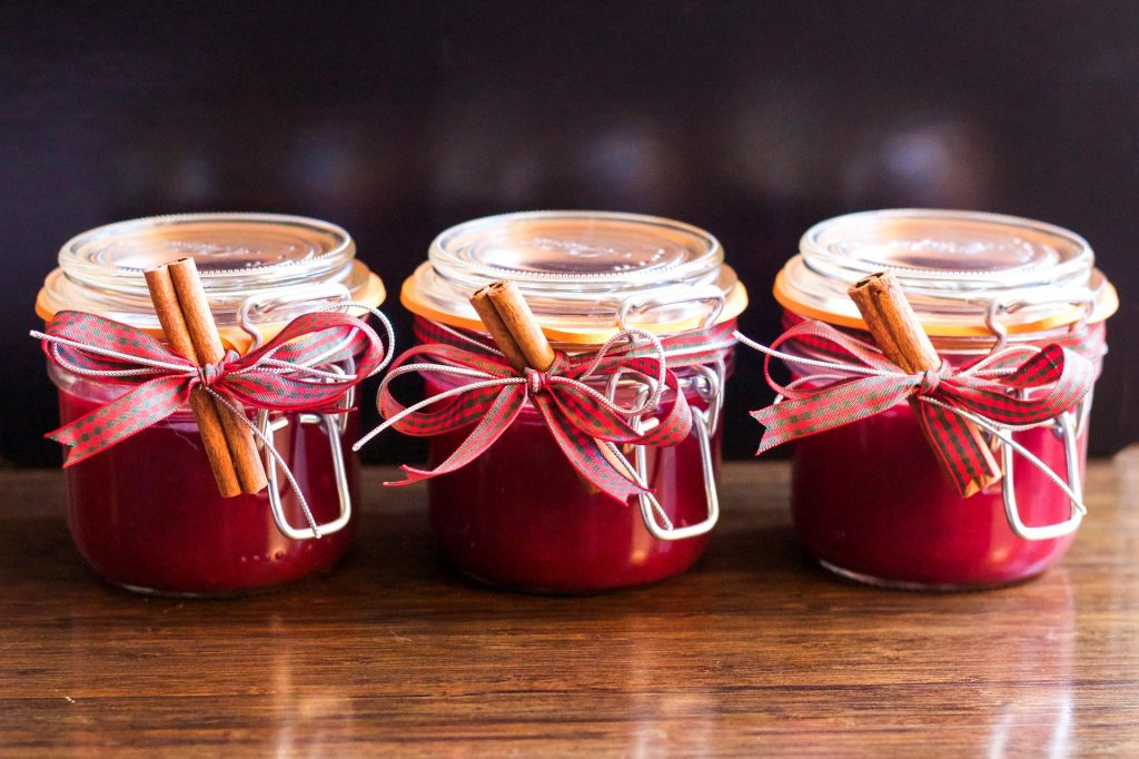 Gifts in glass jars