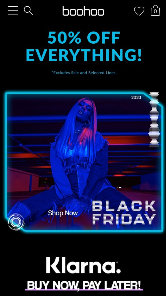 boohoo black friday 2020 campaign