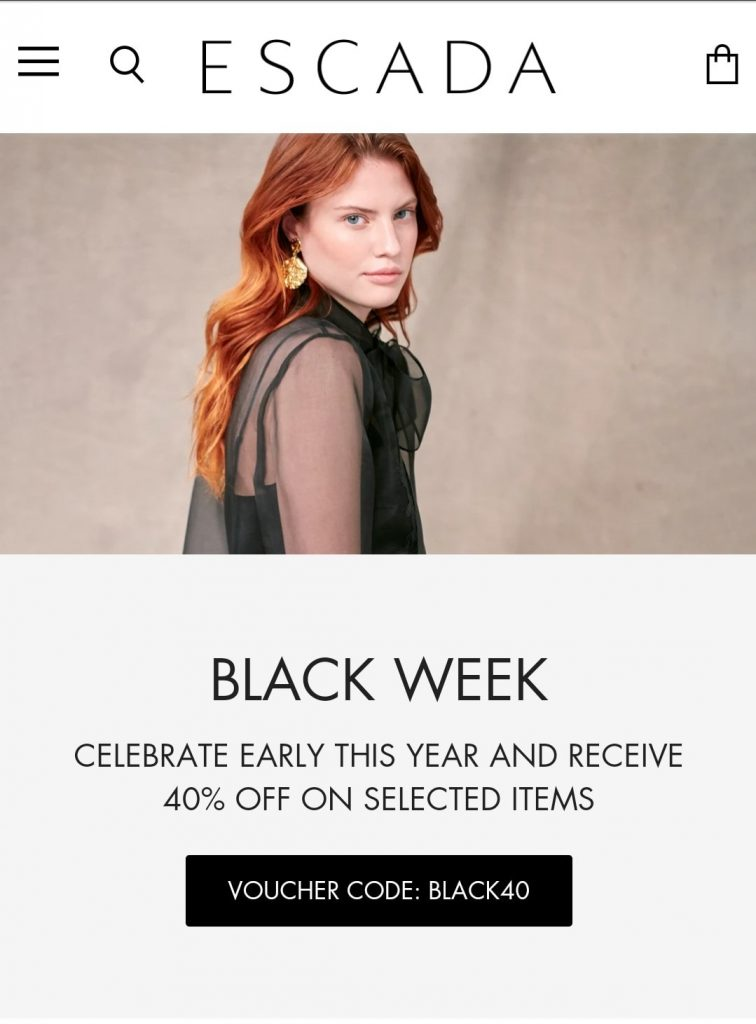 escada black friday deal 2020