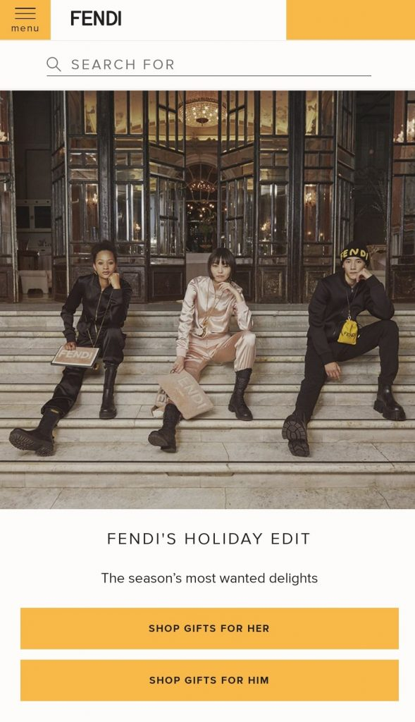 fendi black friday 2020 campaign
