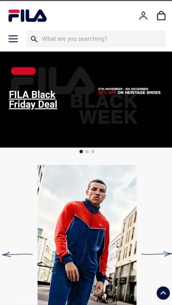 fila black friday campaign 2020
