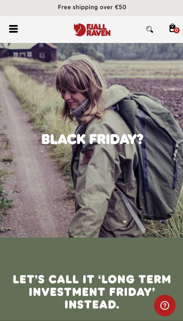 fjallraven black friday 2020
