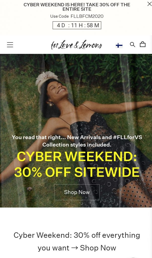 for love & lemons black friday 2020