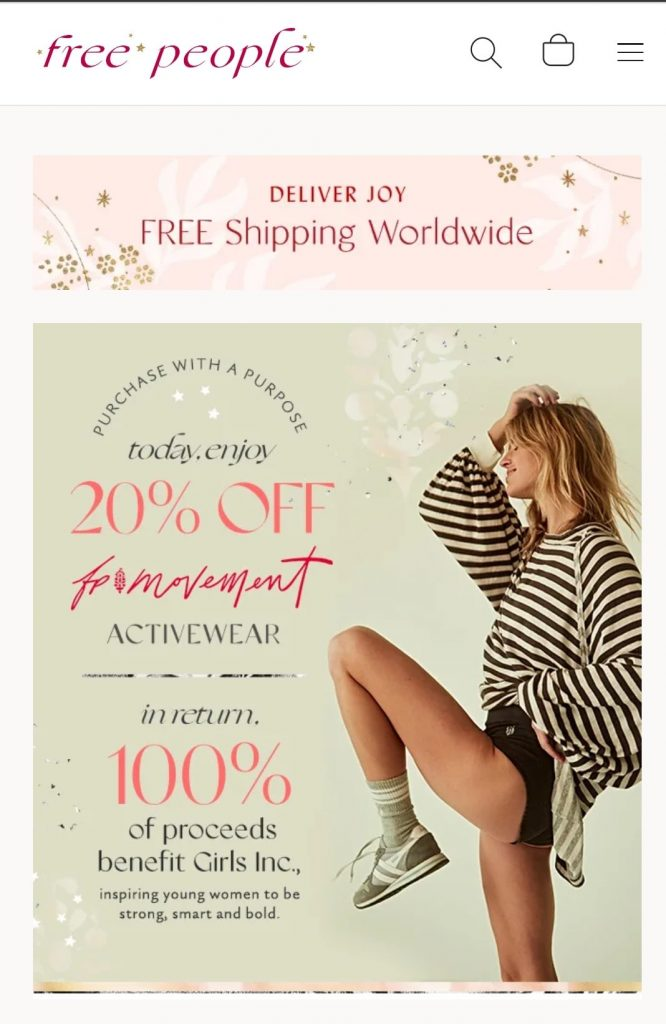 free people black friday campaign 2020