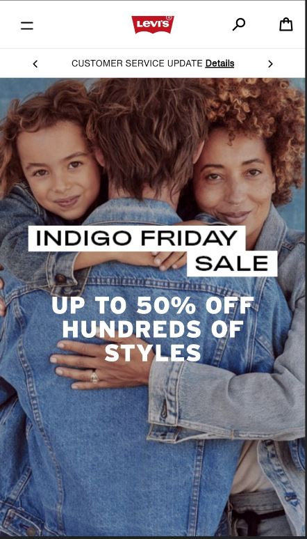 levi's black friday marketing campaign 2020 indigo friday