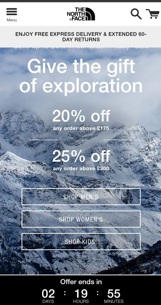 the north face black friday marketing campaign 2020