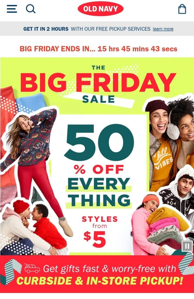 old navy black friday marketing campaign 2020