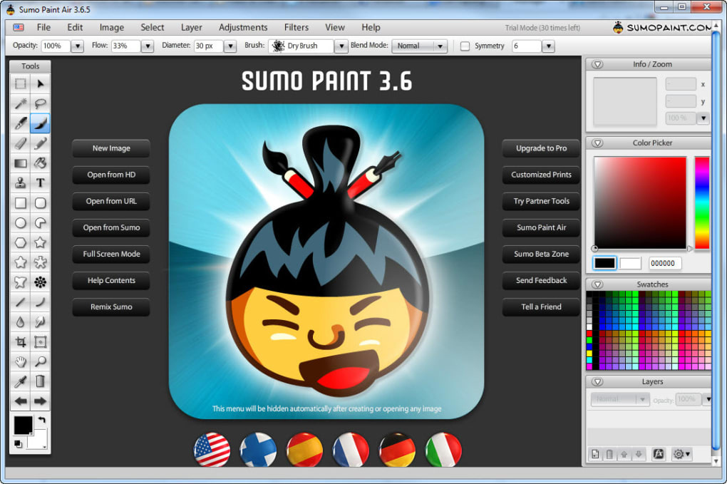 Sumo Paint free graphic editor
