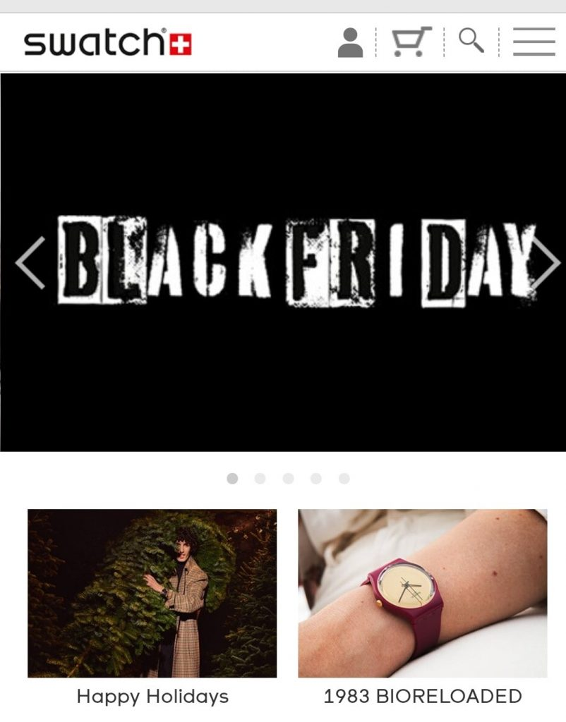 swatch black friday marketing campaign 2020