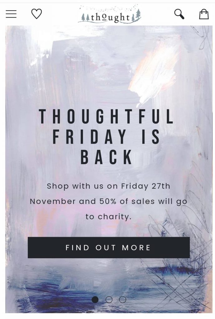 thought clothing black friday marketing campaign 2020
