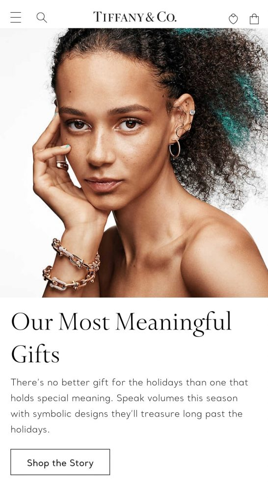 tiffany & co black friday marketing campaign 2020