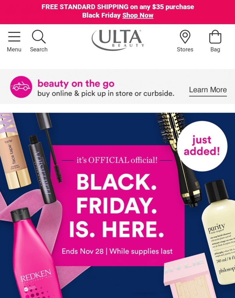 ulta black friday marketing campaign 2020