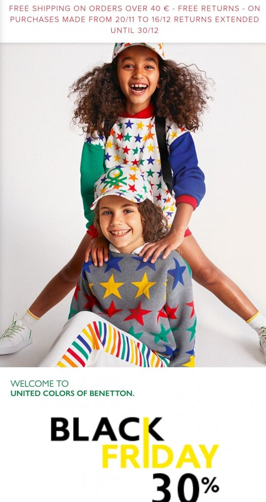 benetton black friday marketing campaign 2020