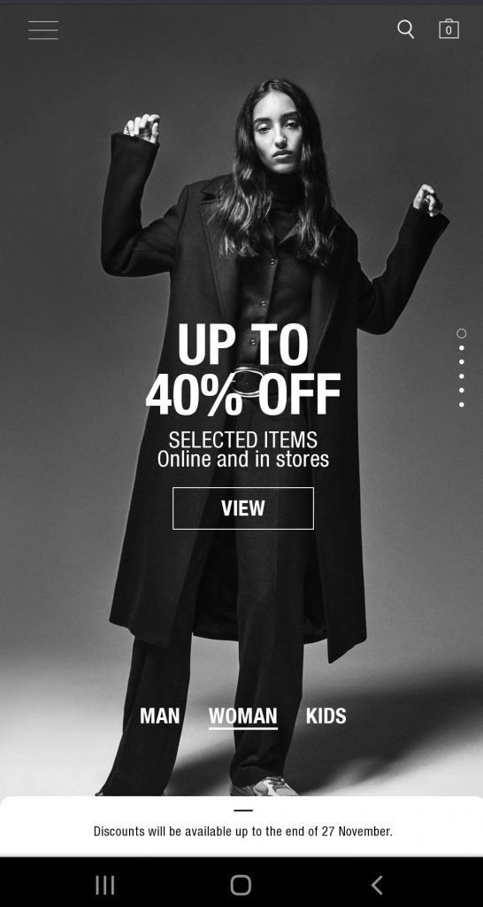 zara black friday sales campaign 2020