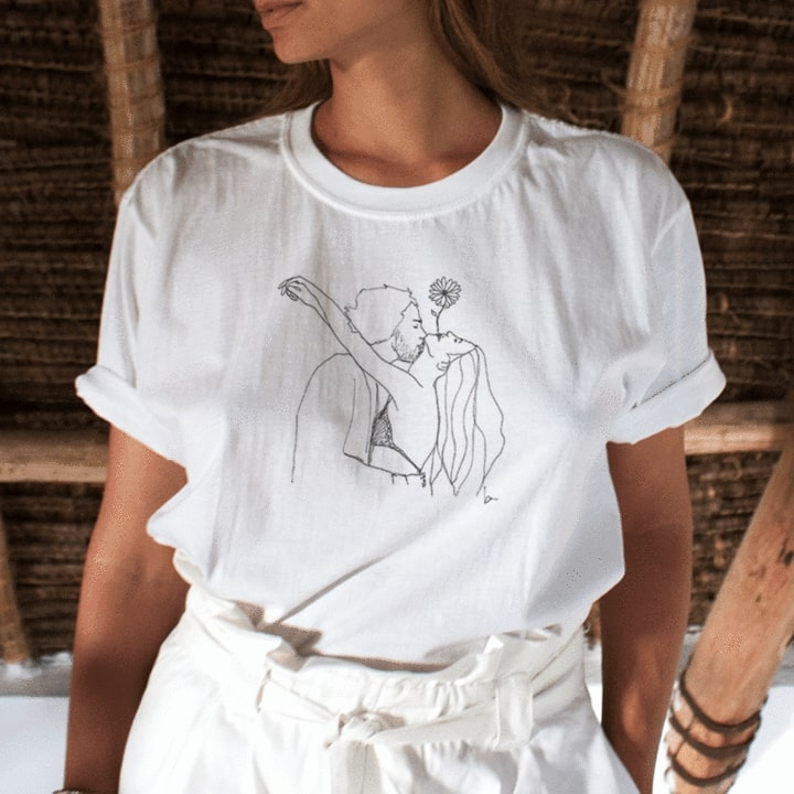 sell art t shirts example