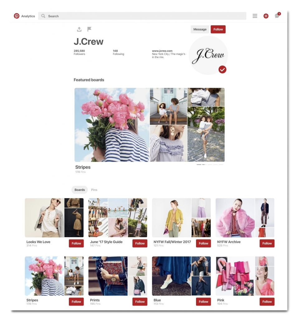 brand marketing su Pinterest per la festa della mamma