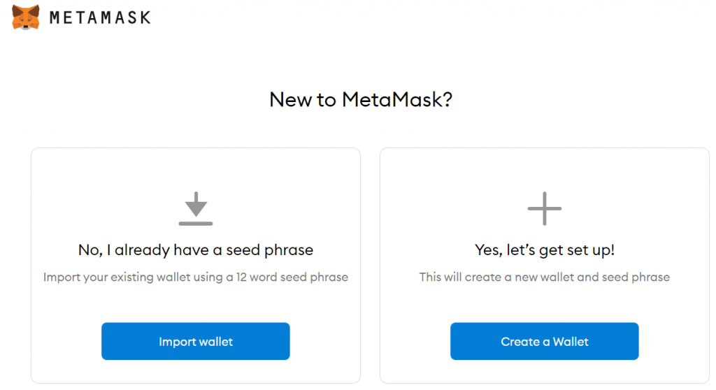 Metamask preview for new users