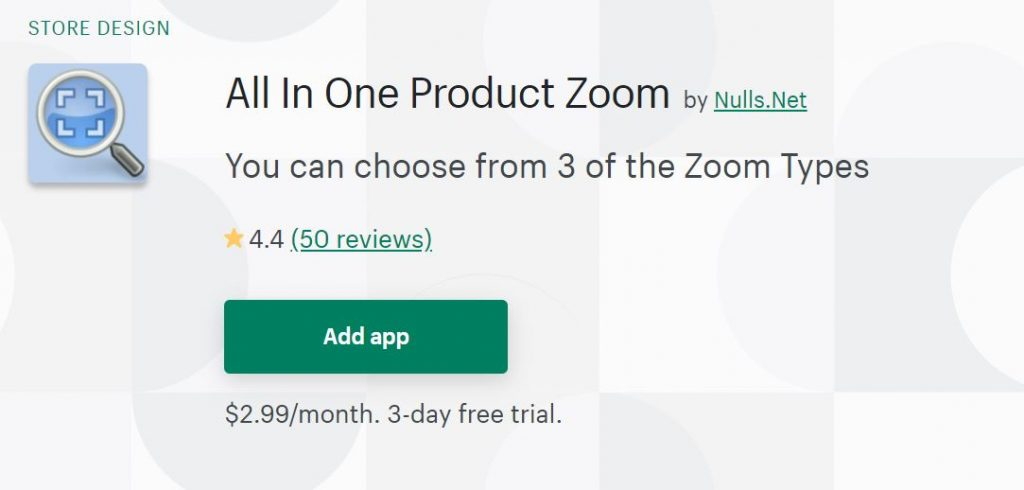 Shopify All In One Product Zoom