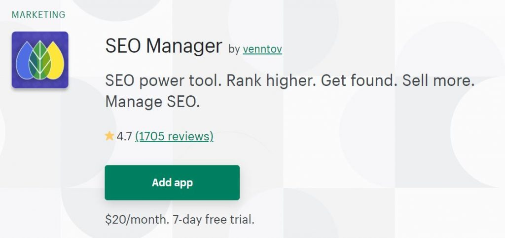 Shopify SEO Manager