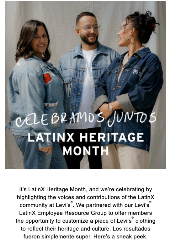 LatinX Heritage Month email