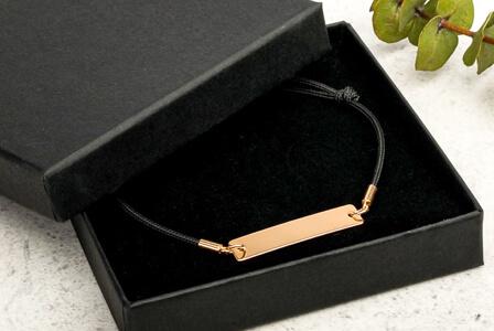 design custom silver bar bracelet