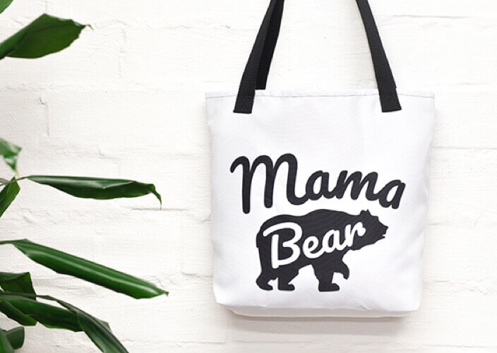 Personalized tote bag as a gift for her