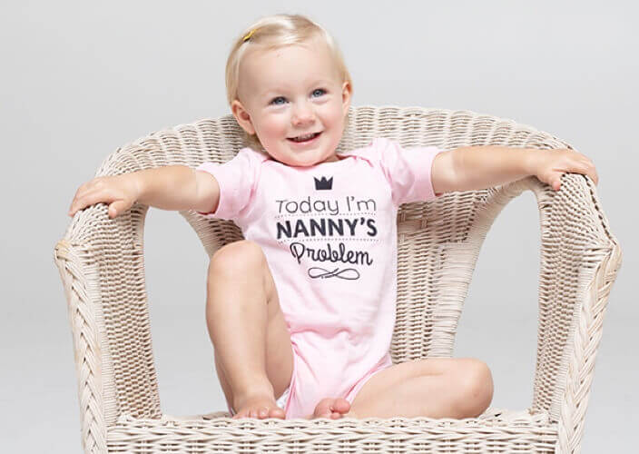 Personalized baby bodysuit gift