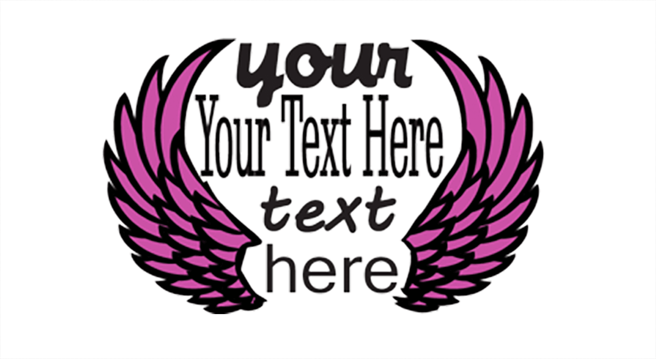 embroidery compatible line & text design