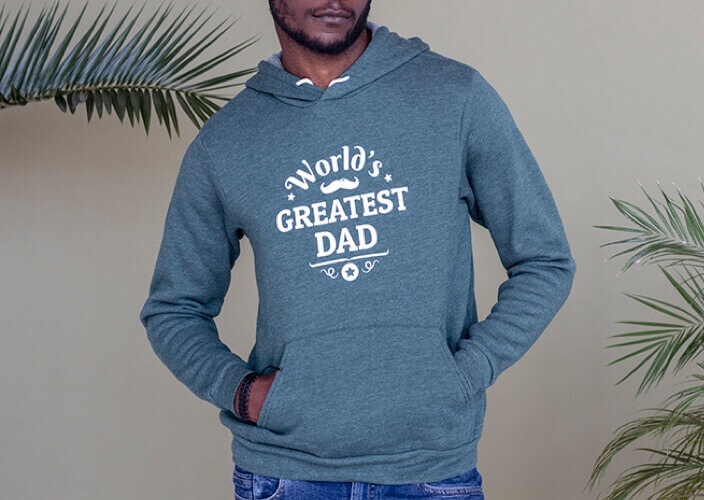 Custom printed hoodie as a gift for him