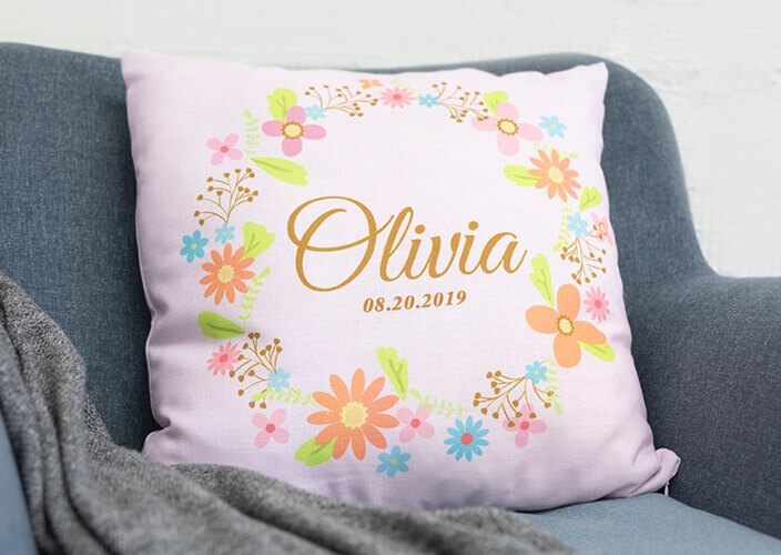 Custom printed pillows and pillow cases as a gift